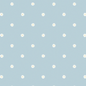 Lewis & Irene - Jolly Spring - 6357 - Floral Spot on Blue - A343.3 - Cotton Fabric